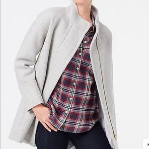 JCrew City Coat in Heather Dusk
